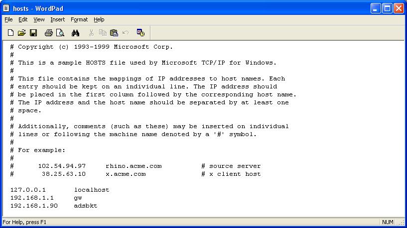 Computer Tips Host File On Windows Xp