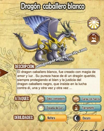 imagen de las caracteristicas del white knight dragon