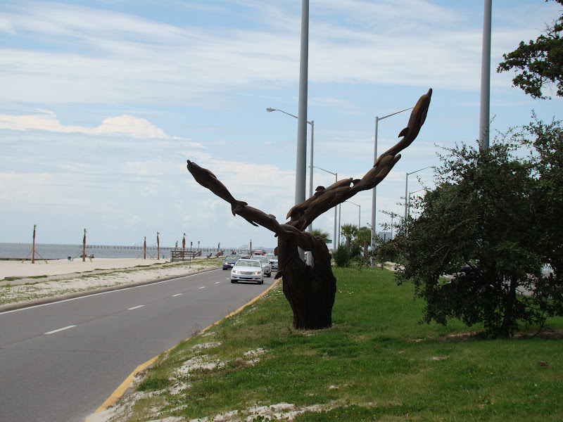Are we there yet my travel biloxi tree carvings