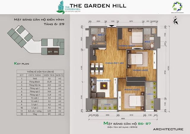 căn b6,b7 chung cư the garden hill
