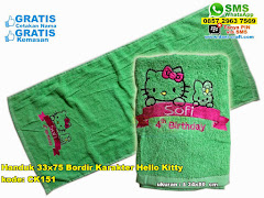 Handuk 33×75 Bordir Karakter Hello Kitty