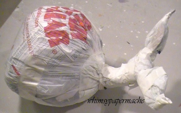 Whimsy Paper Mache.com: How to Make a Big Blue Paper Mache Whale