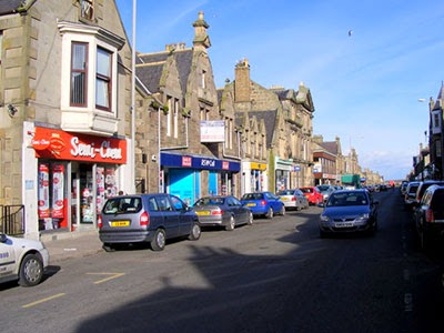 A typical old Scottish town centre - horrible
