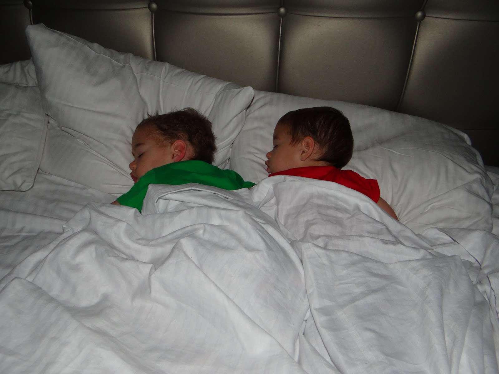 Raising identical twin boys and a princess cross for Sleeping bed