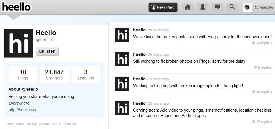 heello new twitter
