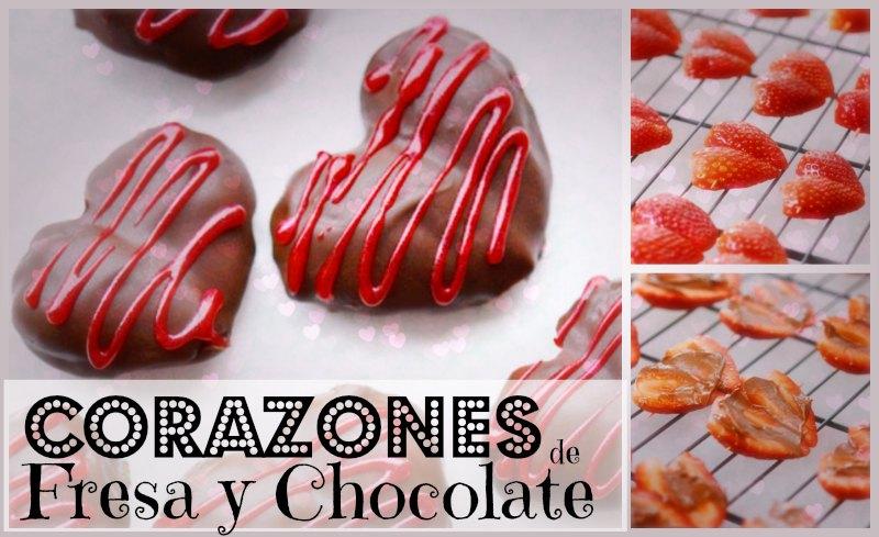 kukibox- corazones de chocolate y fresa San Valentin