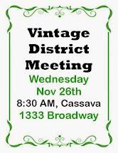Vintage District Meeting