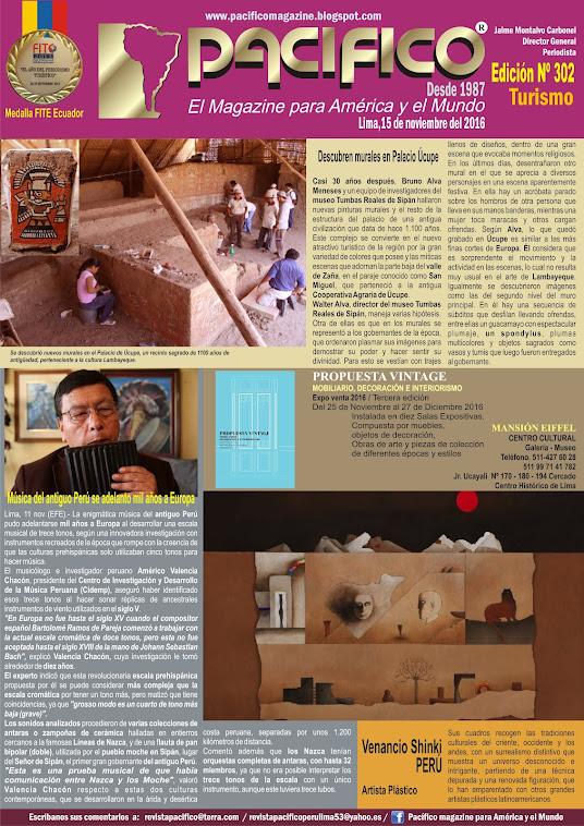 Revista Pacífico Nº 302 Turismo