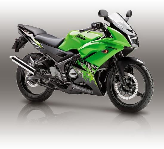 Warna dan striping baru Kawasaki Ninja 150RR 2013 . . semakin terlihat garang sekaligus anggun . . .