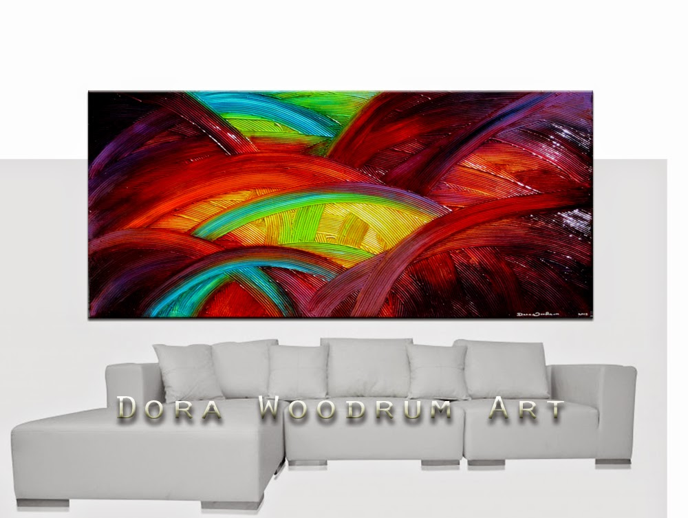 "Abstract Painting ""Over the Rainbow"" by Dora Woodrum"