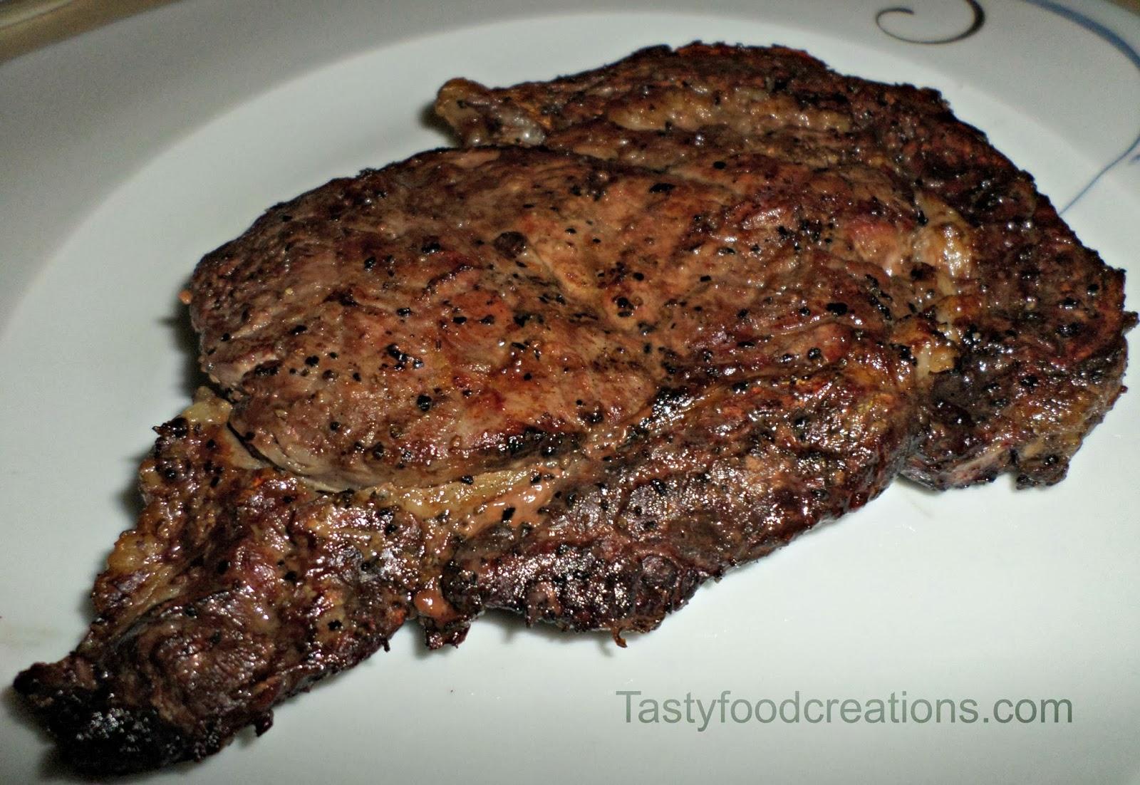 Tasty Food Creations: Grilled Rib Eye Steak