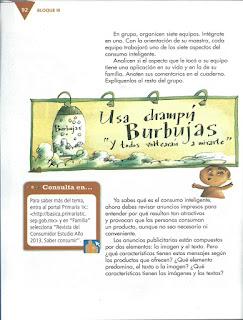 Apoyo Primaria Español 4to Bloque III lección 9 Analizar la información de productos para favorecer el consumo responsable