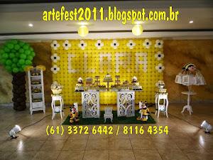 Decoração com balões e kit provençal Abelhinha