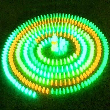Juego de Fichas de Dominó Fluorescentes
