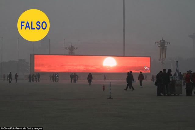 Los falsos atardeceres de Pekín