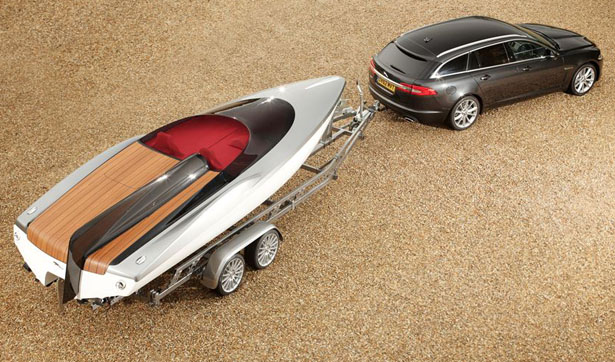 latest concept Jaguar XF Sportbrake Speedboat that features the same DNA of this British premium luxury and sports car manufacturer. Ian Callum, Jaguar Director of Design,