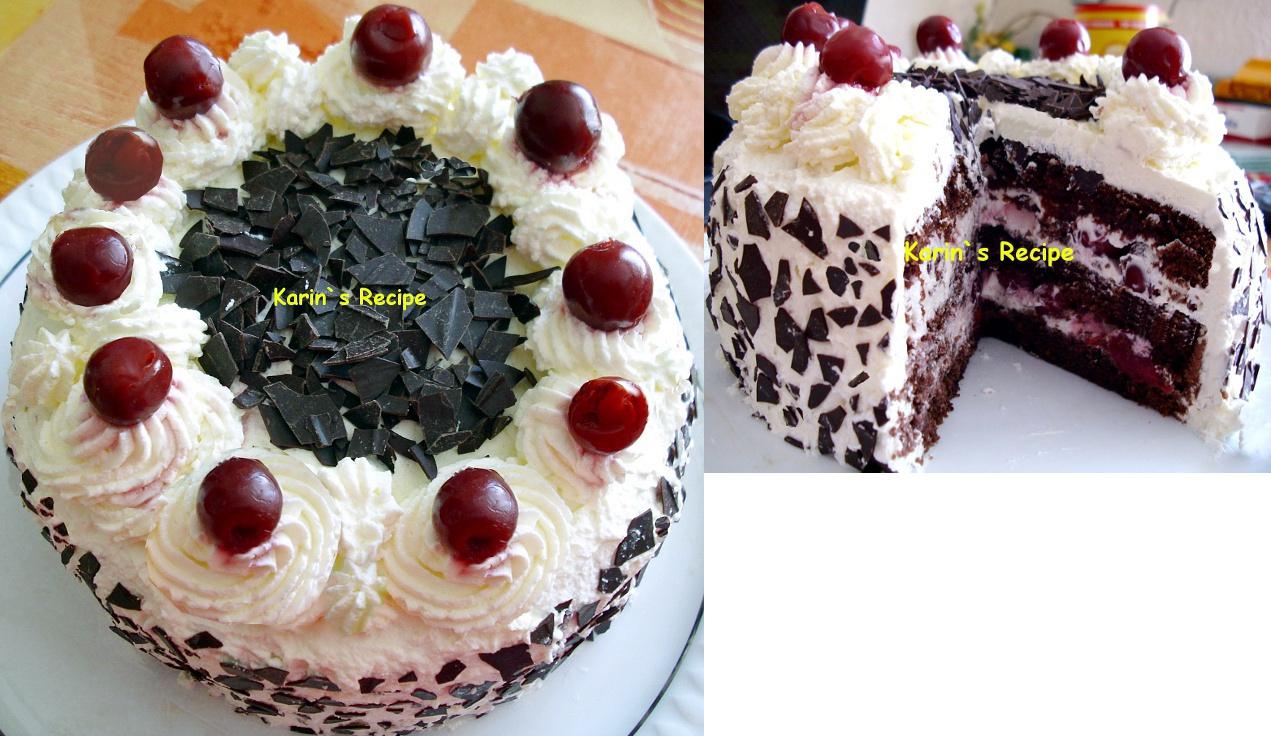 Karin 39 s recipe black forest cake schwarzwalder kirsch torte for Black forest torte recipe