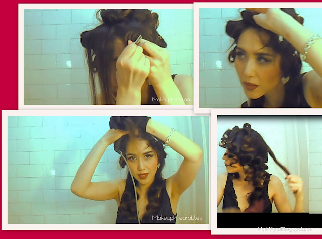 Captured+Videos26 EASY HAIRSTYLES: HOW TO OLD HOLLYWOOD, PIN UP GIRL HAIR FOR MEDIUM LONG HIAR