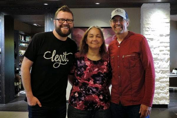 NASCAR Race Mom  with Kyle Petty and his best buddy Rutledge Wood before the 2014 Charity Ride in Carlsbad, California.
