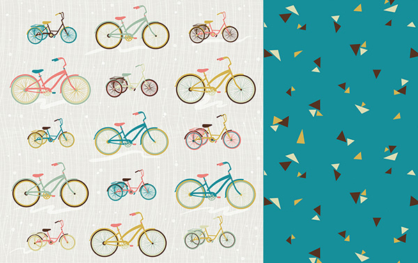 Dari Design Studio Bikes and Triangles Pattern