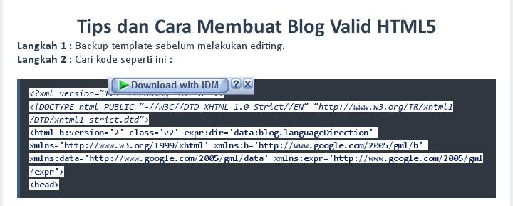 Cara Membuat Seleksi Otomatis Pada Tag Blockquote dan Pre