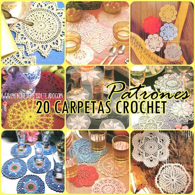 20 patrones de tapetes pequeños para tejer al crochet