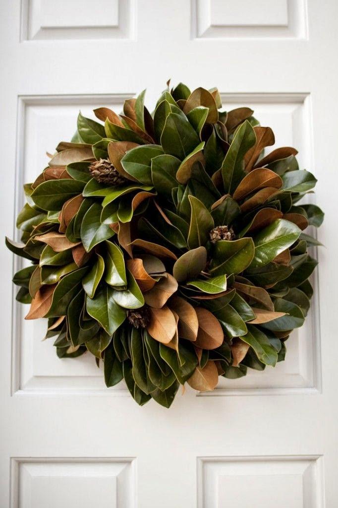 Cup Half Full: Fall Decor: The Magnolia Leaf