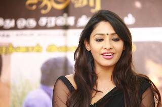 Actress Samruthika  Picture Gallery in Black Saree at Aayirathil Iruvar Movie Press Meet  25