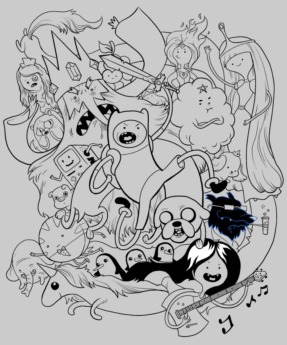 adventure time characters coloring pages - photo#22