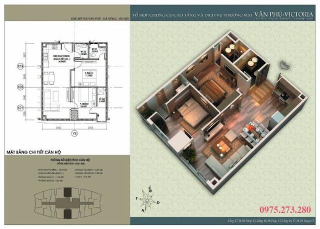 Bán cư xá Văn Phú Victoria căn 05 , 15
