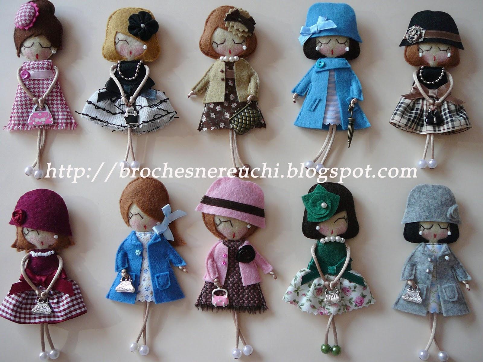Игра в куколки шьём мягкие брошки из фетра Ярмарка 53