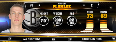 NBA 2K13 Nets Mason Plumlee - Round 1 22nd Overall