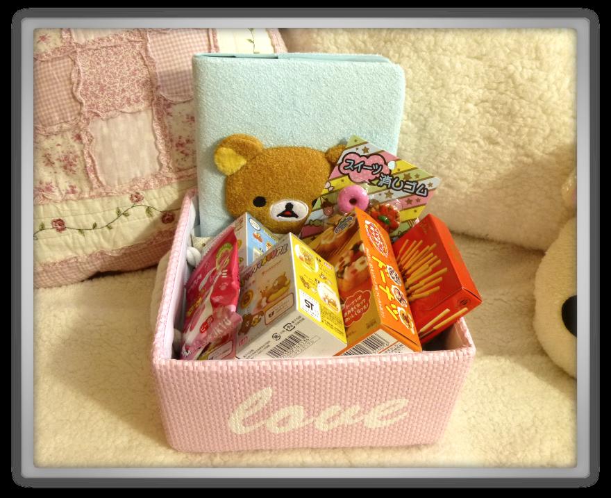 Oyatsu Cafe haul shoplog candy rilakkuma korilakkuma kiiroitori diy erasers kawaii cute peach model pockky chocolate photo album nikukyu