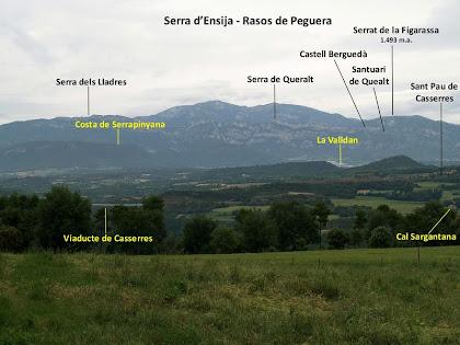 Panoràmica cap al nord des de la Baga del Bernadàs