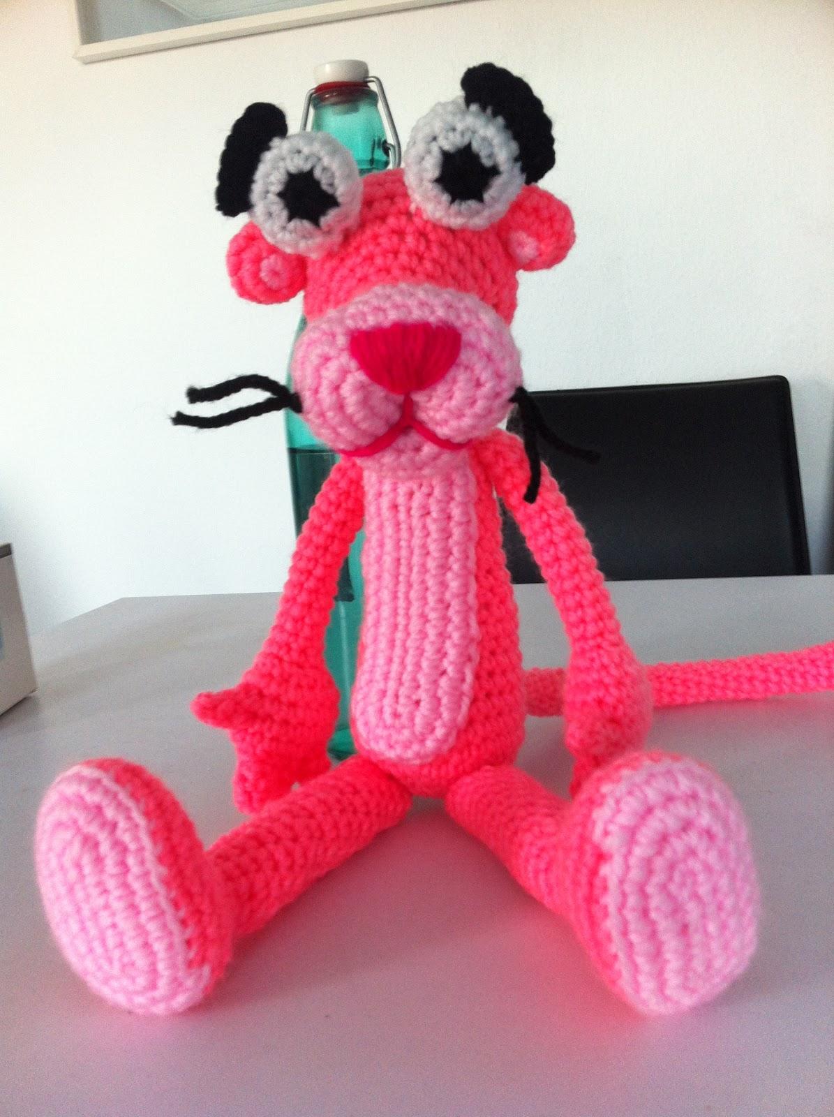 Mi mundo y Punto: Pantera Rosa de Amigurumi!