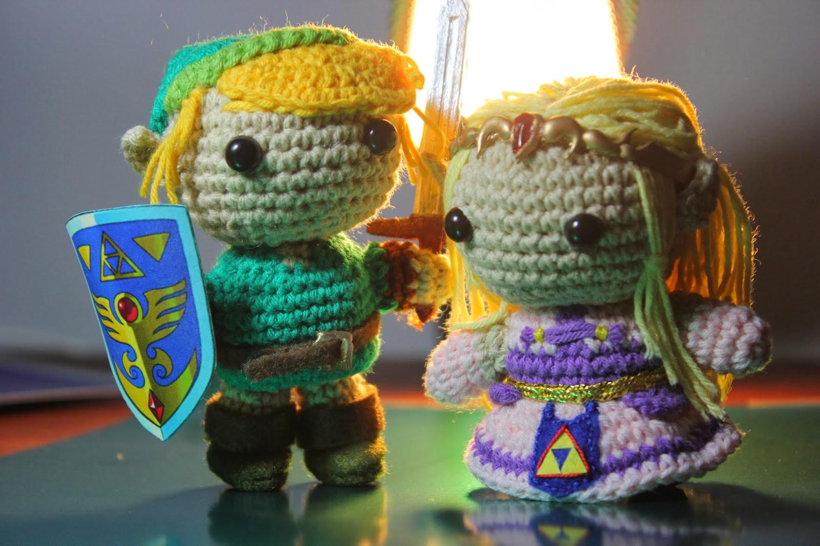 ArtesanDroides: Amigurumi Link y Zelda
