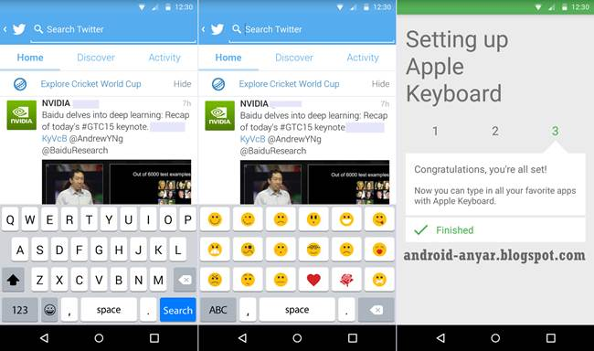 Aplikasi Keyboard Android Tampilan iPhone Emoticon Gratis