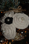 Burlap Rosette Ornament Tutorial