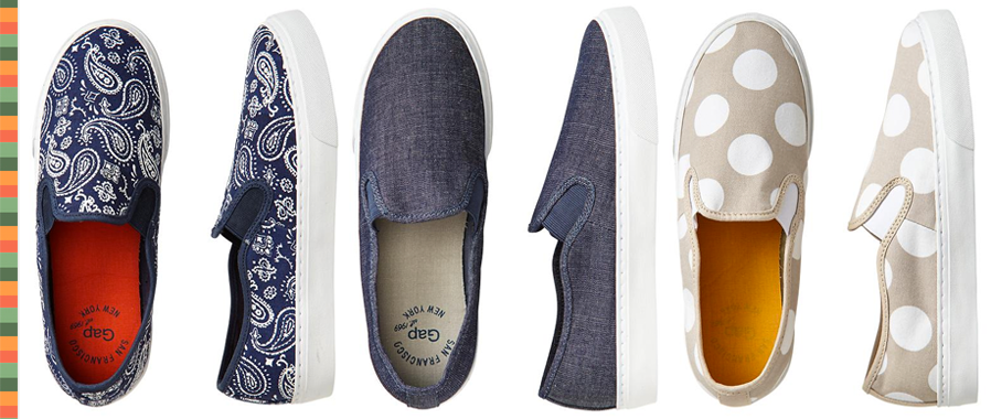 GAP Skate Shoes - Bandana Print - Chambray - Neutral Polka Dots