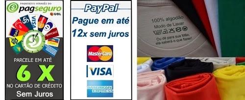 Kicamisetas, Pague Sem Juros com Cartão de Crédito.