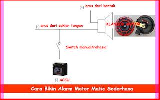 Cara Bikin Alarm Motor Matic Sederhana