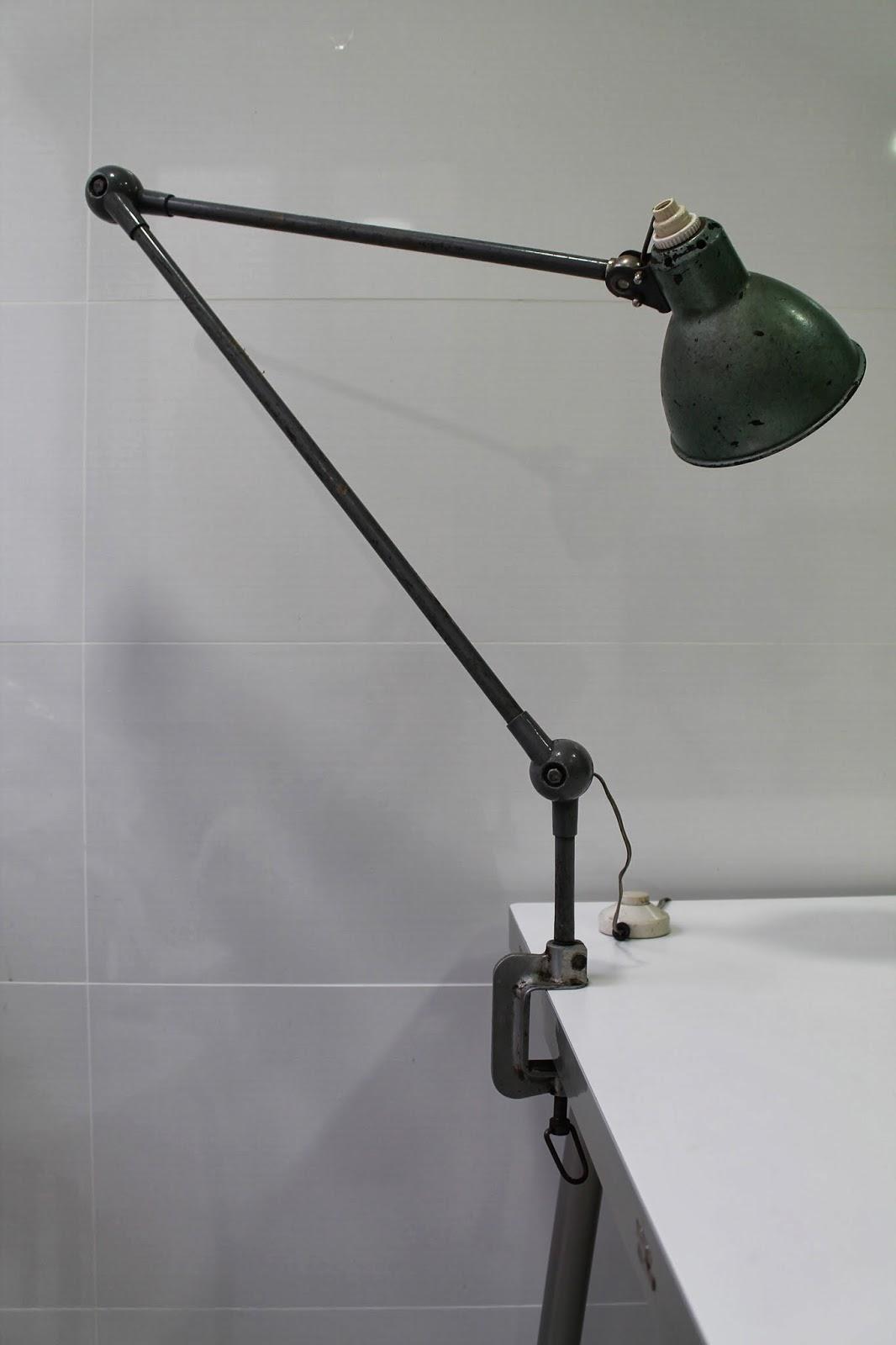 Vintager a lampara industrial o arquitecto tipo jielde a os 50 - Lampara tipo industrial ...