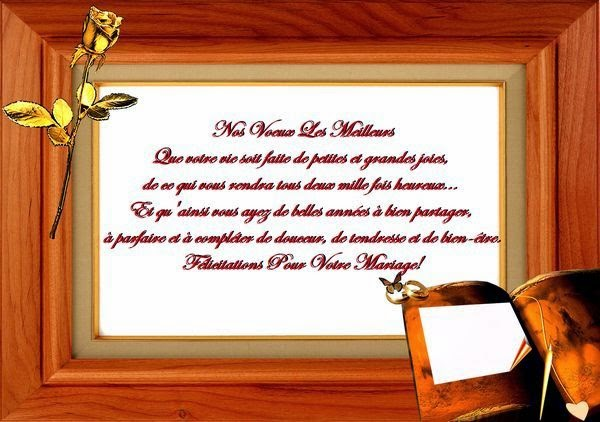 Jolie carte mariage félicitations