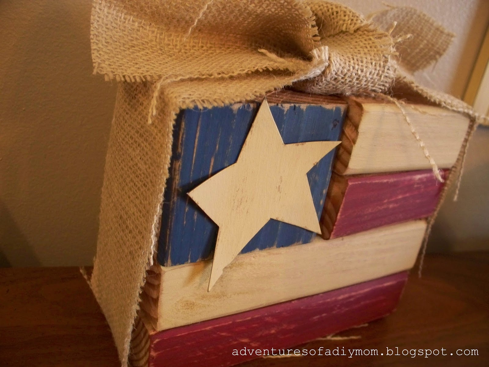 Wood Block Flag
