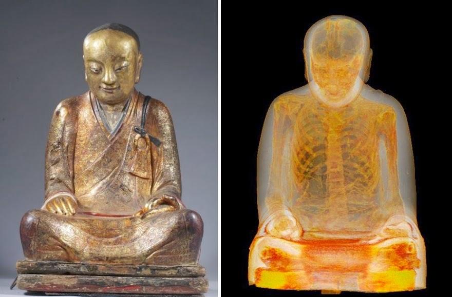 Ανακαλύφθηκε μούμια μοναχού μέσα σε άγαλμα του Βούδα