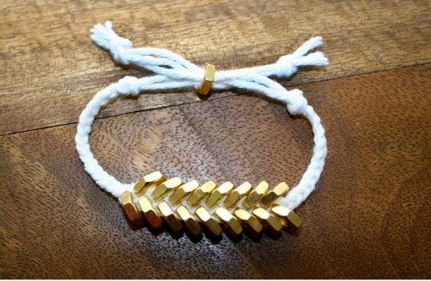 image tutorial diy roundup hex nut bracelet braided plaited plait hardware store