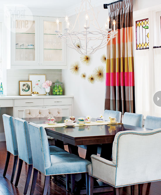 light colored dining room furniture