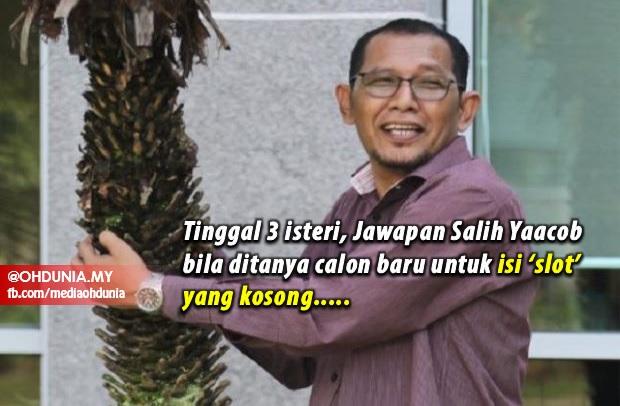 Jawapan Salih Yaacob bila ditanya calon baru untuk isi 'slot' yang kosong