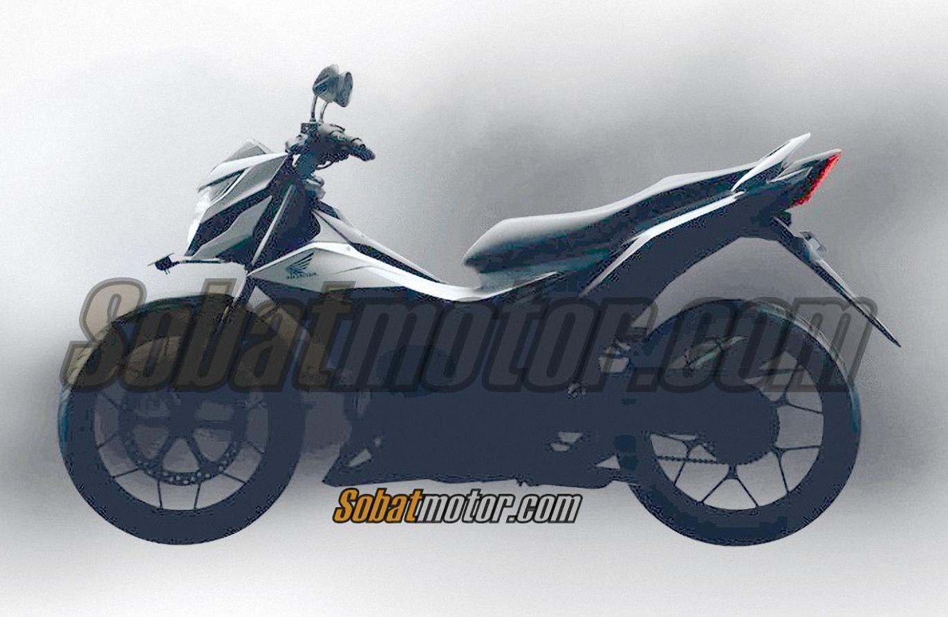 HOT ! Inilah bentuk Honda Sonic 150R dari samping . . .