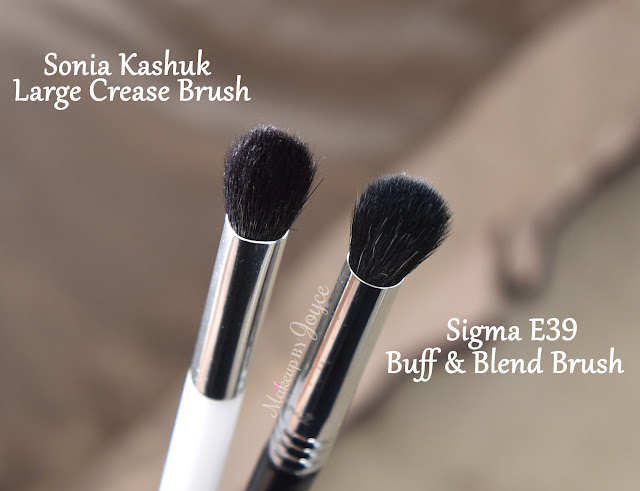 Sonia Kashuk Large Crease Brush vs Sigma E39 Buff Blend Brush Review